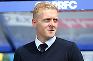 Garry Monk, the Leeds United manager looks on from the dugout .Skybet EFL championship match, Queens Park Rangers v Leeds United at Loftus Road Stadium in London on Sunday 7th August 2016.<br /> pic by John Patrick Fletcher, Andrew Orchard sports photography.