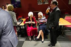 Bristol City Club President Marina Dolman looks on as Richard Latham launches his new Bristol City book 'Wembley Wonders' at Ashton Gate Stadium - Rogan/JMP - 01/11/2018 - SPORT - Ashton Gate Stadium - Bristol, England.