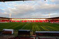 General view of inside the Keepmoat Stadium before the EFL Sky Bet League 1 match between Doncaster Rovers and Bristol Rovers at the Keepmoat Stadium, Doncaster, England on 26 March 2019.