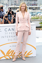 Cate Blanchett attending the photocall for The Jury at the Palais De Festival, part of the 71st Cannes Film Festival. Photo credit should read: Doug Peters/EMPICS