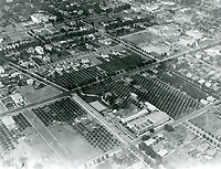1920 Aerial photo of Chaplin Studios on La Brea Ave
