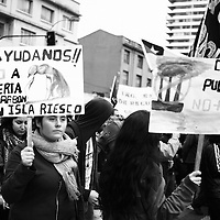 The silent movement in Southern Patagonia was not suficient to rouse people in the other parts of Chile and struggle together to defend life in Riesco´s Island.<br /> <br /> The power of money provides the road to put a big Carbon Mine in this pristine place.<br /> <br /> Carbon Dioxide and its waste rises up directly to winds circulating high in the Patagonian skyes. They will impact the virgin forests, small fisheries and glaciers.