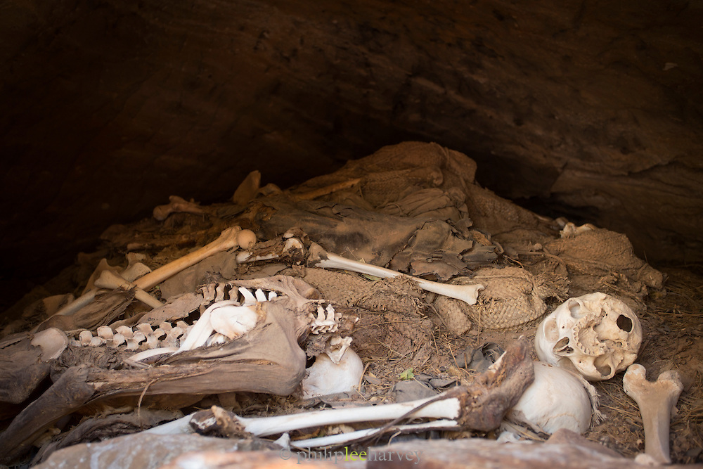 Burial area next to Abune Yemata church in the mountains. Near Hawzen Town, Gheralta area, Tigray, Ethiopia, Horn of Africa