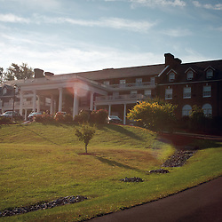 Luray, VA - The Mimslyn Inn in Luray boasts views of the Shenandoah Valley from it's front portico.