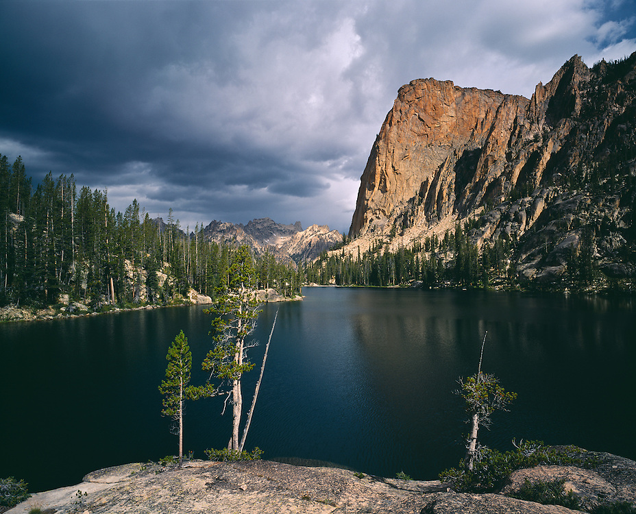 Edition of 65 includes all sizes<br /> The Elephants Perch profile sits near the outlet of Shangri La also know as SaddleBack Lakes in the Sawtooth Mtns in Central Idaho Wilderness SNRA Elevation: 9,870 ft
