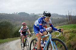 Shara Gillow (FDJ) at Strade Bianche - Elite Women. A 127 km road race on March 4th 2017, starting and finishing in Siena, Italy. (Photo by Sean Robinson/Velofocus)