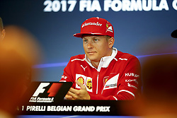 August 24, 2017 - Spa-Francorchamps, Belgium - Motorsports: FIA Formula One World Championship 2017, Grand Prix of Belgium, ..#7 Kimi Raikkonen (FIN, Scuderia Ferrari) (Credit Image: © Hoch Zwei via ZUMA Wire)