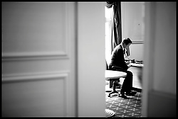 Leader of Conservative Party David Cameron prepares to face the 1922 committee as talks to form a coalition government with the Liberal Democrats fade Monday May 10, 2010. Photo By Andrew Parsons / i-Images.