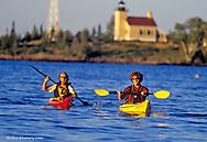 Sea kayaking in Lake Superior at Copper Harbor Michigan model released