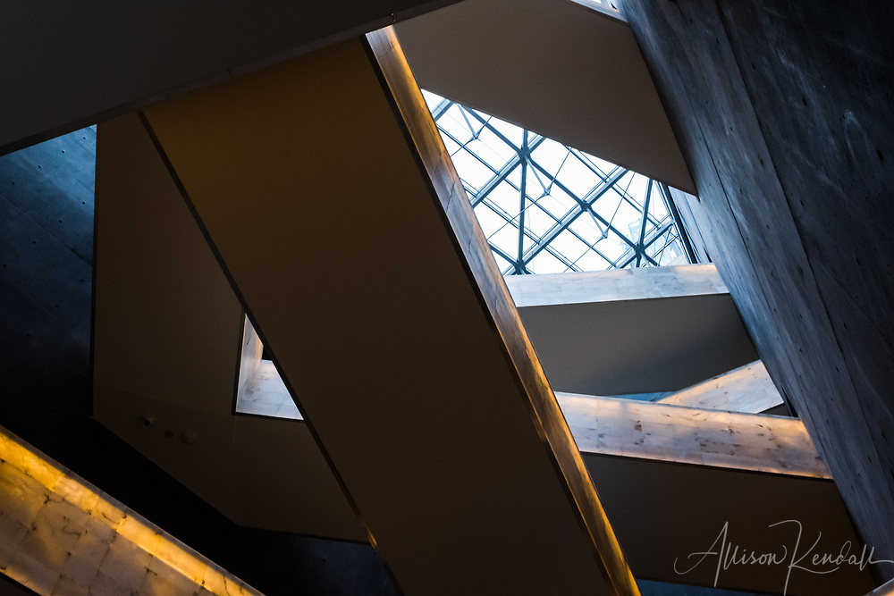 Architectural and exhibit details from the Canadian Museum for Human Rights