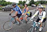 7-7-2012: Over 10,000 cyclists head out of Killarney on the annual Ring of Kerry charity cycle on Saturday. The route of 120 miles takes in the towns of Killorglin, Cahersiveen, Waterville, Sneem, Kenmare and finishes back in Killarney..Picture by Don MacMonagle