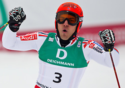 18.02.2011, Kandahar, Garmisch Partenkirchen, GER, FIS Alpin Ski WM 2011, GAP, Herren, Riesenslalom, im Bild silber Medaille Cyprien Richard (FRA) // silver medal Cyprien Richard (FRA) during men's Giant Slalom Fis Alpine Ski World Championships in Garmisch Partenkirchen, Germany on 18/2/2011. EXPA Pictures © 2011, PhotoCredit: EXPA/ J. Groder