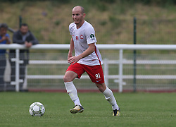 May 31, 2018 - London, United Kingdom - Kaya Unal of Northern Cyprus.during Conifa Paddy Power World Football Cup 2018  Group B match between Northern Cyprus against Karpatalya at Queen Elizabeth II Stadium (Enfield Town FC), London, on 31 May 2018  (Credit Image: © Kieran Galvin/NurPhoto via ZUMA Press)