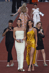 Lily Aldridge and Bella Hadid attend the Bvgalri Gala Dinner held at the Stadio dei Marmi in Rome, Italy on June 28, 2018. Photo by Marco Piovanotto/ABACAPRESS.COM