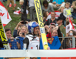 27.09.2015, Energie AG Skisprung Arena, Hinzenbach, AUT, FIS Ski Sprung, Sommer Grand Prix, Hinzenbach, im Bild Gregor Schlierenzauer (AUT) // during FIS Ski Jumping Summer Grand Prix at the Energie AG Skisprung Arena, Hinzenbach, Austria on 2015/09/27. EXPA Pictures © 2015, PhotoCredit: EXPA/ Reinhard Eisenbauer