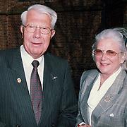 Mattheus Passion 1999, oud voorzitter Bachvereniging Frans de Vilder met vrouw Elles