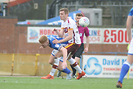 Rochdale Midfielder, Callum Camps (10) battles for possession during the EFL Sky Bet League 1 match between Rochdale and Bradford City at Spotland, Rochdale, England on 21 April 2018. Picture by Mark Pollitt.