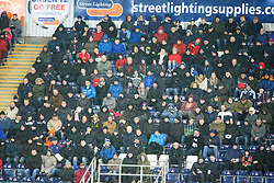 Second half south stand.<br /> Falkirk 1 v 0 Dumbarton, Scottish Championship game played 26/12/2015 at The Falkirk Stadium.