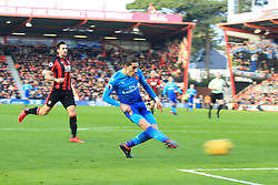 14 January 2018 -  Premier League - AFC Bournemouth v Arsenal - Hector Bellerin of Arsenal scores the opening goal - Photo: Marc Atkins/Offside