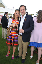 JAMIE MURRAY-WELLS and LOTTIE FRY at the Cartier Queen's Cup Polo Final, Guards Polo Club, Windsor Great Park, Berkshire, on 17th June 2012.