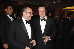 Left to right, MICHAEL SPENCER and DAVID CAMERON at the Morgan Stanley Great Britons Awards at The Guildhall, City of London on 31st January 2008.  Conservative party leader David Cameron presenter a lifetime achievement award to former Prime Minister Baroness Thatcher.<br /> <br /> NON EXCLUSIVE - WORLD RIGHTS (EMBARGOED FOR PUBLICATION IN UK MAGAZINES UNTIL 2 WEEKS AFTER CREATE DATE AND TIME) www.donfeatures.com  +44 (0) 7092 235465