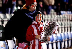 A Lincoln City fan with a tin foil FA Cup - Mandatory by-line: Robbie Stephenson/JMP - 17/01/2017 - FOOTBALL - Sincil Bank Stadium - Lincoln, England - Lincoln City v Ipswich Town - Emirates FA Cup third round replay