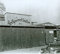 1943 Wooden fence and entry gate at the Hollywood Canteen