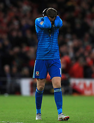 Wales' Wayne Hennessey during the League B, Group four match at Cardiff City Stadium. PRESS ASSOCIATION Photo. Picture date: Thursday September 6, 2018. See PA story SOCCER Wales. Photo credit should read: Mike Egerton/PA Wire. RESTRICTIONS: Editorial use only, No commercial use without prior permission.