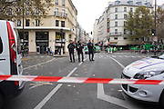 Close to Rue de la Fontaine, closed off on Saturday morning after the attacks the night before<br />