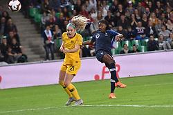 October 5, 2018 - Saint-Etienne - Stade Geoffroy G, France - Kadidiatou Diani (france) vs Ellie Carpenter  (Credit Image: © Panoramic via ZUMA Press)