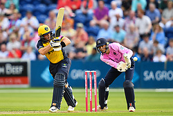 David Lloyd of Glamorgan in action<br /> <br /> Photographer Craig Thomas/Replay Images<br /> <br /> Vitality Blast T20 - Round 4 - Glamorgan v Middlesex - Friday 26th July 2019 - Sophia Gardens - Cardiff<br /> <br /> World Copyright © Replay Images . All rights reserved. info@replayimages.co.uk - http://replayimages.co.uk