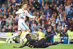 UEFA Champions League match between Real Madrid and Tottenham Hotspur at Santiago Bernabeu on October 17, 2017 in Madrid. 17 Oct 2017 Pictured: Cristiano Ronaldo (forward; Real Madrid), Davinson Sanchez (defender; Tottenham Hotspur). Photo credit: Jack G / MEGA TheMegaAgency.com +1 888 505 6342