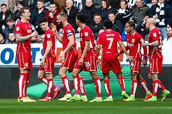 Aaron Wilbraham of Bristol City celebrates with Aden Flint after scoring a goal to make it 0-1 - Rogan Thomson/JMP - 25/02/2017 - FOOTBALL - St James' Park - Newcastle, England - Newcastle United v Bristol City - Sky Bet EFL Championship.