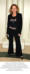Actress LUCY BENJAMIN at a reception in London on 11th March 2003.PHW 100
