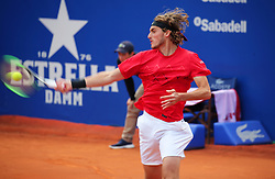 April 29, 2018 - Barcelona, Spain - Stefanos Tsitsipas during the match against Rafa Nadal during the final of the Barcelona Open Banc Sabadell, on 29th April 2018 in Barcelona, Spain.  Photo: Joan Valls/Urbanandsport /NurPhoto. (Credit Image: © Joan Valls/NurPhoto via ZUMA Press)