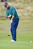 Thomas Bjorn of Denmark wills in a putt during the British Masters 2018 at Walton Heath Golf Course, Walton On the Hill, Surrey on 12 October 2018. Picture by Martin Cole.