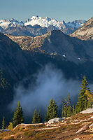 North Cascades from Cutthroat Pass. Dome Peak is in the far distance. Washington