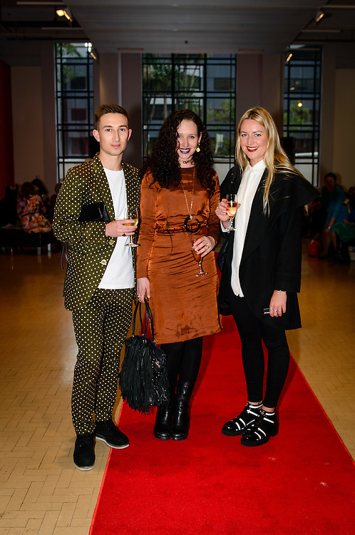 Freddie Aitchison, Charolette Hall, Ruthie Frank. WELLINGTON, NEW ZEALAND - November 06: City Gallery Tuatara Open Late: Advanced Style judged by Kate Bryant (Ziggurat) and Chrissy O (Hunters and Collectors): November 06, 2014 in Wellington, New Zealand.  City Gallery Open Late Advanced Style.  (Photo by Mark Tantrum/ mark tantrum.com)