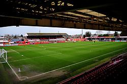 General views inside the stadium- Mandatory by-line: Nizaam Jones/JMP - 20/02/2021 - FOOTBALL - Jonny-Rocks Stadium - Cheltenham, England - Cheltenham Town v Bradford City - Sky Bet League Two