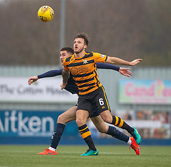 Falkirk's Aaron Jarvis and Alloa Athletic's Steven Hetherington. Falkirk 1 v 2 Alloa Athletic, Scottish Championship game played 6/4/2019 at The Falkirk Stadium.