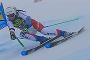 SOELDEN, AUSTRIA. OCTOBER 17 2020:  1st Women's Giant Slalom as part of the Alpine Ski World Cup in Solden on October 17, 2020; Run 1, Priska Nufer (SUI) ( Pierre Teyssot/ESPA Images-Image of Sport)