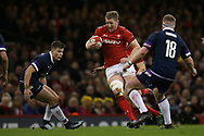 Bradley Davies of Wales © in action.Wales v Scotland, NatWest 6 nations 2018 championship match at the Principality Stadium in Cardiff , South Wales on Saturday 3rd February 2018.<br /> pic by Andrew Orchard, Andrew Orchard sports photography
