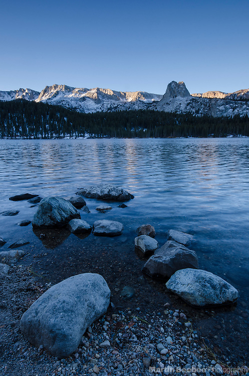 Morning light on The Mammoth Crest above Lake Mary, Mammoth Lakes, Inyo National Forest, California