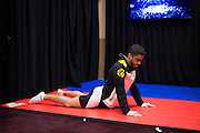 LAS VEGAS, NV - JULY 8:  Thiago Tavares warms up in the locker room before The Ultimate Fighter Finale at MGM Grand Garden Arena on July 8, 2016 in Las Vegas, Nevada. (Photo by Cooper Neill/Zuffa LLC/Zuffa LLC via Getty Images) *** Local Caption *** Thiago Tavares