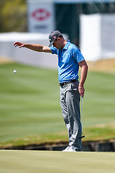 March 21, 2018 - Austin, TX, U.S. - AUSTIN, TX - MARCH 21: Brendan Steele takes a drop during the First Round of the WGC-Dell Technologies Match Play on March 21, 2018 at Austin Country Club in Austin, TX. (Photo by Daniel Dunn/Icon Sportswire) (Credit Image: © Daniel Dunn/Icon SMI via ZUMA Press)