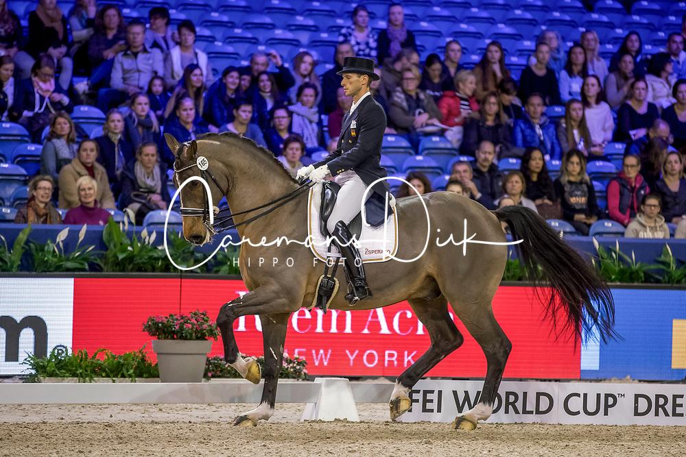 Carrascosa Borja, ESP, Foco Loco W<br /> FEI World Cup Dressage - Grand Prix<br /> Jumping Amsterdam 2017<br /> © Hippo Foto - Leanjo de Koster<br /> 27/01/17