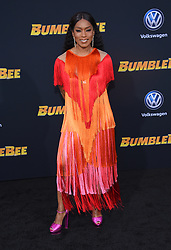 December 9, 2018 - Hollywood, California, U.S. - Angela Bassett arrives for the premiere of the film 'Bumblebee' at the Chinese theater. (Credit Image: © Lisa O'Connor/ZUMA Wire)