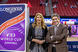 Steffi Graf, GER,  Juan-Carlos Capelli, vice president Longines <br /> World Cup Final Jumping - Las Vegas 2015<br /> © Hippo Foto - Dirk Caremans<br /> 19/04/2015