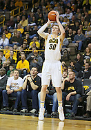 February 27 2013: Iowa Hawkeyes forward Aaron White (30) puts up a three-point shot during the first half of the NCAA basketball game between the Purdue Boilermakers and the Iowa Hawkeyes at Carver-Hawkeye Arena in Iowa City, Iowa on Wednesday, February 27 2013.