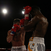 Conor Coyle fights Joshua Maxwell during a Fire Fist Boxing Promotions boxing match at the A La Carte Pavilion on Saturday, August 12 , 2017 in Tampa, Florida.  (Alex Menendez via AP)